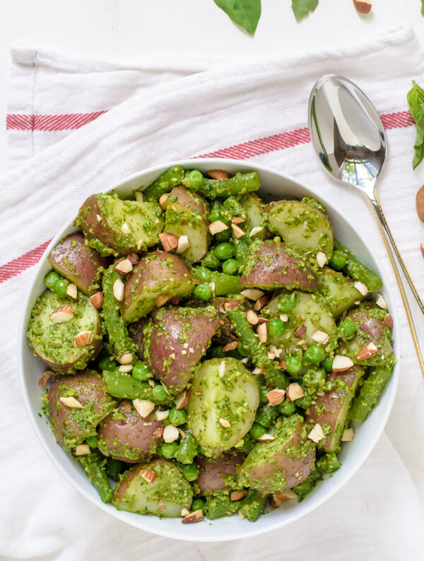 pesto-potato-salad-with-almonds-and-green-beans