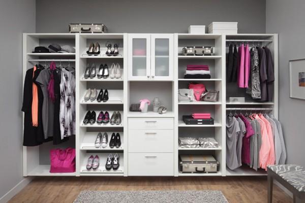 C mo organizar un closet perfecto para dos luna de miel for Closets modernos para parejas